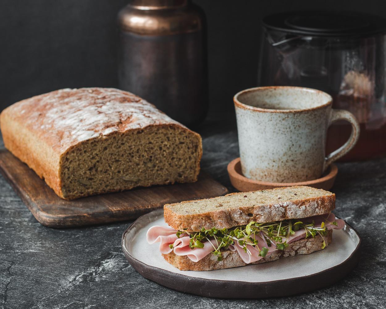 Dýňový proteinový chléb