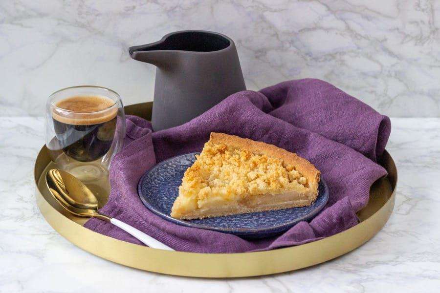 Jablečný koláč s mandlovou drobenkou