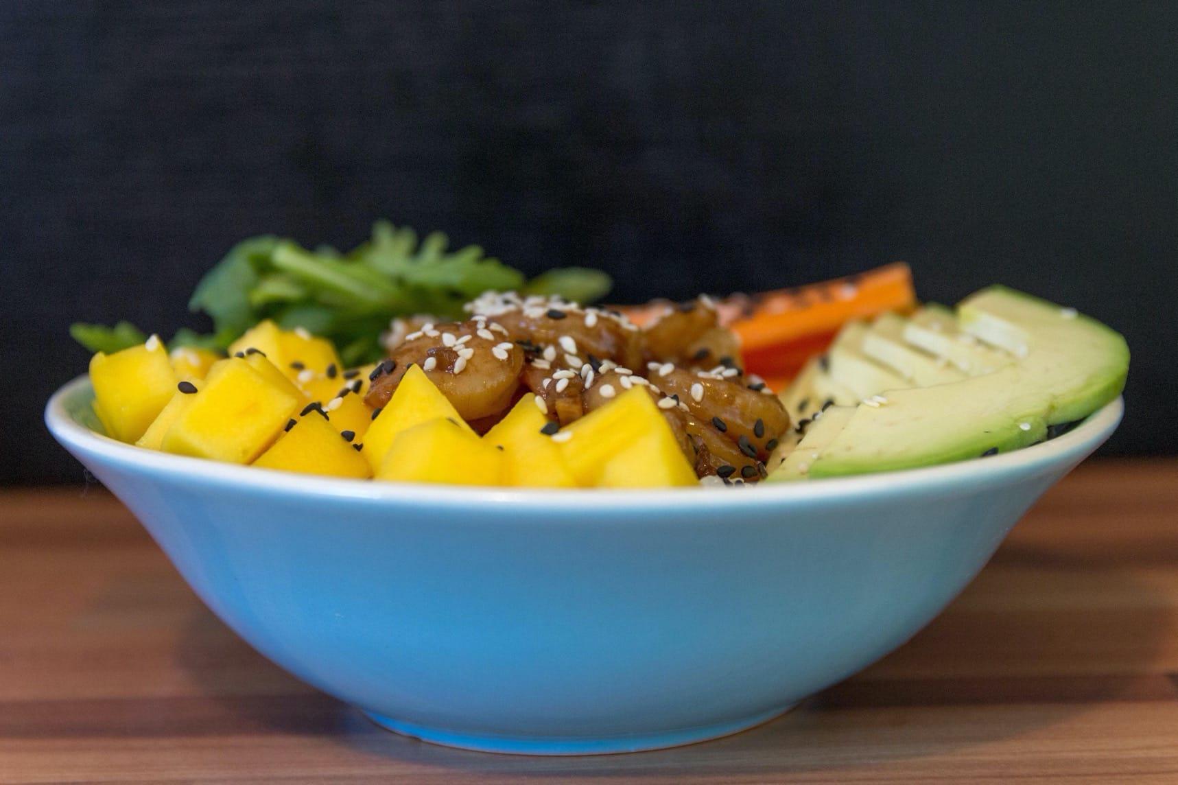 Teriyaki shrimp bowl – restované krevety se zeleninou