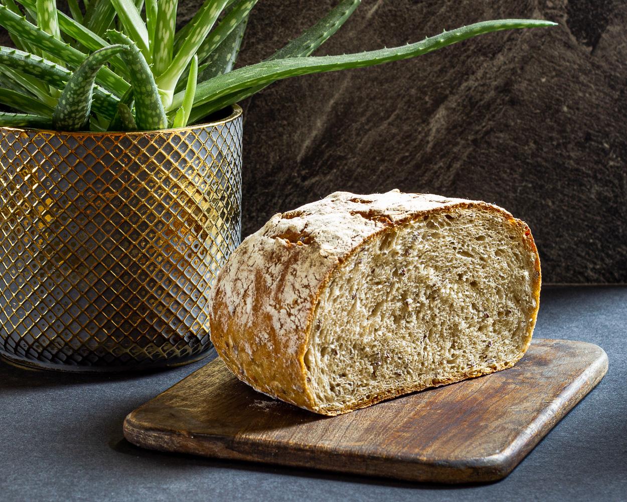 Kváskový chléb se syrovou bramborou